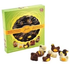 Coffret de sujets en chocolat belge