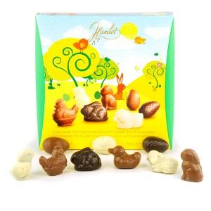Coffret de sujets de Pâques en chocolat